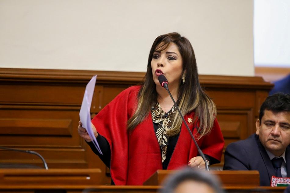 Congresista, Alejandra Aramayo